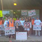 Rep. Gobi and constituents from Winchendon voicing their opposition to the proposed pipeline