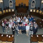 Senator Gobi and Rep. Smola host students from Palmer High School - 4/15/15
