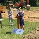 Senator Anne Gobi at the Barre Public Safety Building Groundbreaking Ceremony