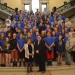Senator Gobi and Representative Zlotnik with Murdock Middle School